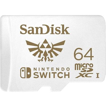 Cartão SanDisk microSDXC UHS-I para Nintendo Switch 64 GB por 14,99€