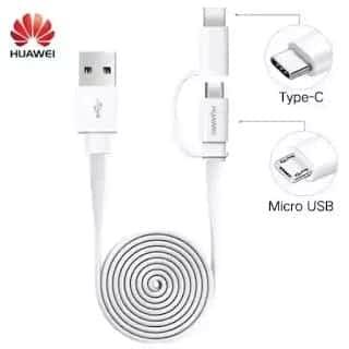 Pechincha! Cabo USB Huawei 2 em 1 de 1.5m só 0,91€