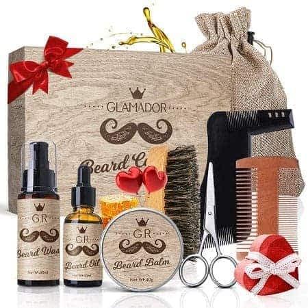 Desconto Amazon! Kit 8pcs GLAMADOR cuidado diário da Barba a 13,58€