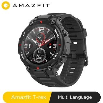Desconto Amazon! Smartwatch Amazfit T-rex desde Espanha por 79,90€