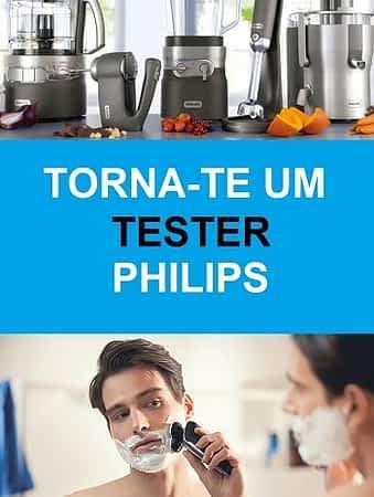 Habilita-te a testar produtos Philips e no final ainda ficas com eles!