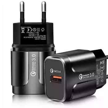 Oferta Flash! Carregador Quick Charge 3.0A 18W só 2,32€
