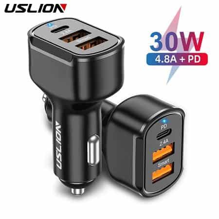 Pechincha! Carregador Tripla Porta USB 30W por 3,79€