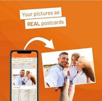 Envia um postal personalizado a Custo 0€ com (IOS & Android)