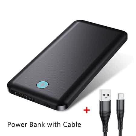 2 x Powerbank de 10.000mAh + Cabo USB desde Espanha a 14,83€