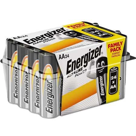 Energizer E91 – Pack de 24 pilhas alcalinas AA por 9,97€