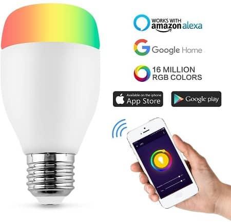 Lâmpada RGB Controlo por App por apenas 7,16€