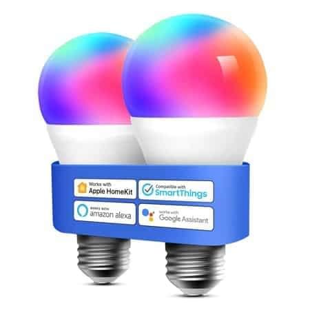 Código desconto Amazon! 2 lâmpadas inteligentes 8.5W E27 Wi-Fi por 14,99€