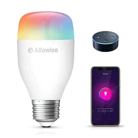 Lâmpada inteligente Alfawise LE12 E27 9W 900LM WiFi e APP control por 9,50€