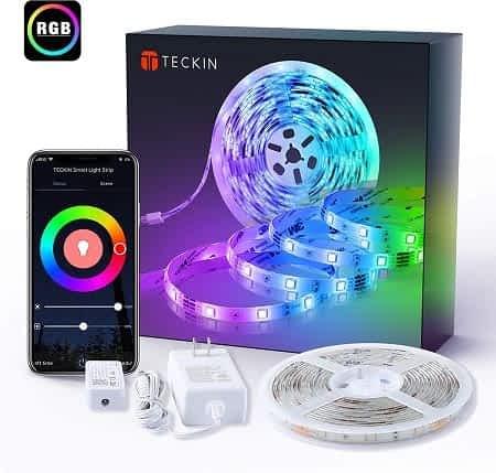 Fita LED RGB 5mt com controlo por APP ou voz por apenas 17,67€