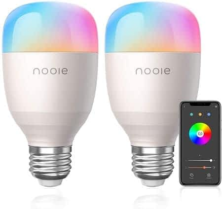 Conjunto de 2 lâmpadas LED 10W E27 RGB controlo por WiFi só 15,99€