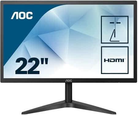 Oferta Amazon! Monitor AOC 22″ Full HD por apenas 70,24€