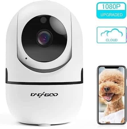 Câmara de vigilância 1080P Wifi com visão noturna por 19,99€