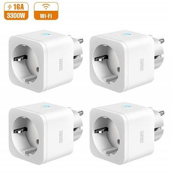 Rebaixa Amazon! Pack de 4 tomadas inteligentes por 28,99€ com envio gratuito